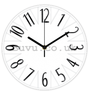 Wall clock - Designed (white) - 25 cm