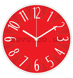 Wall clock: Design (red) - 25 cm