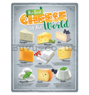 Metal sign: The Best Cheese of the World - 30x40 cm