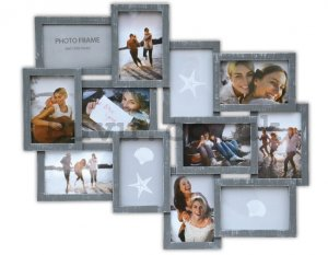 Photo frame - 12 windows, 10x15cm (Gray)