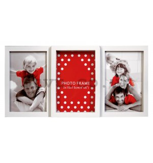 Photo frame - 3 windows, 10x15 (White)