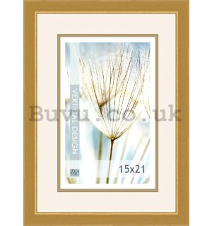 Photo frame, 1 photo, 15x21 cm (gold)
