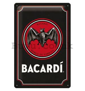 Metal sign: Bacardi (Black Logo) - 20x30 cm