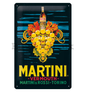 Metal sign: Martini (Vermouth Grapes) - 20x30 cm