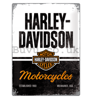 Metal sign: Harley-Davidson (Motorcycles) - 30x40 cm