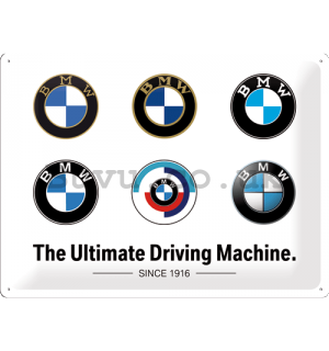 Metal sign: BMW (Logo Evolution) - 40x30 cm
