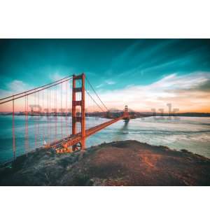 Wall mural vlies: San Francisco Bridge - 184x254 cm