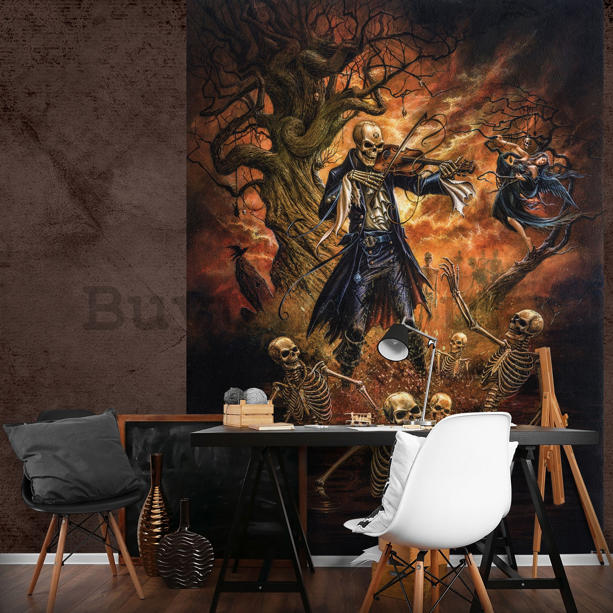 Wall mural: Between the skeletons - 254x184 cm