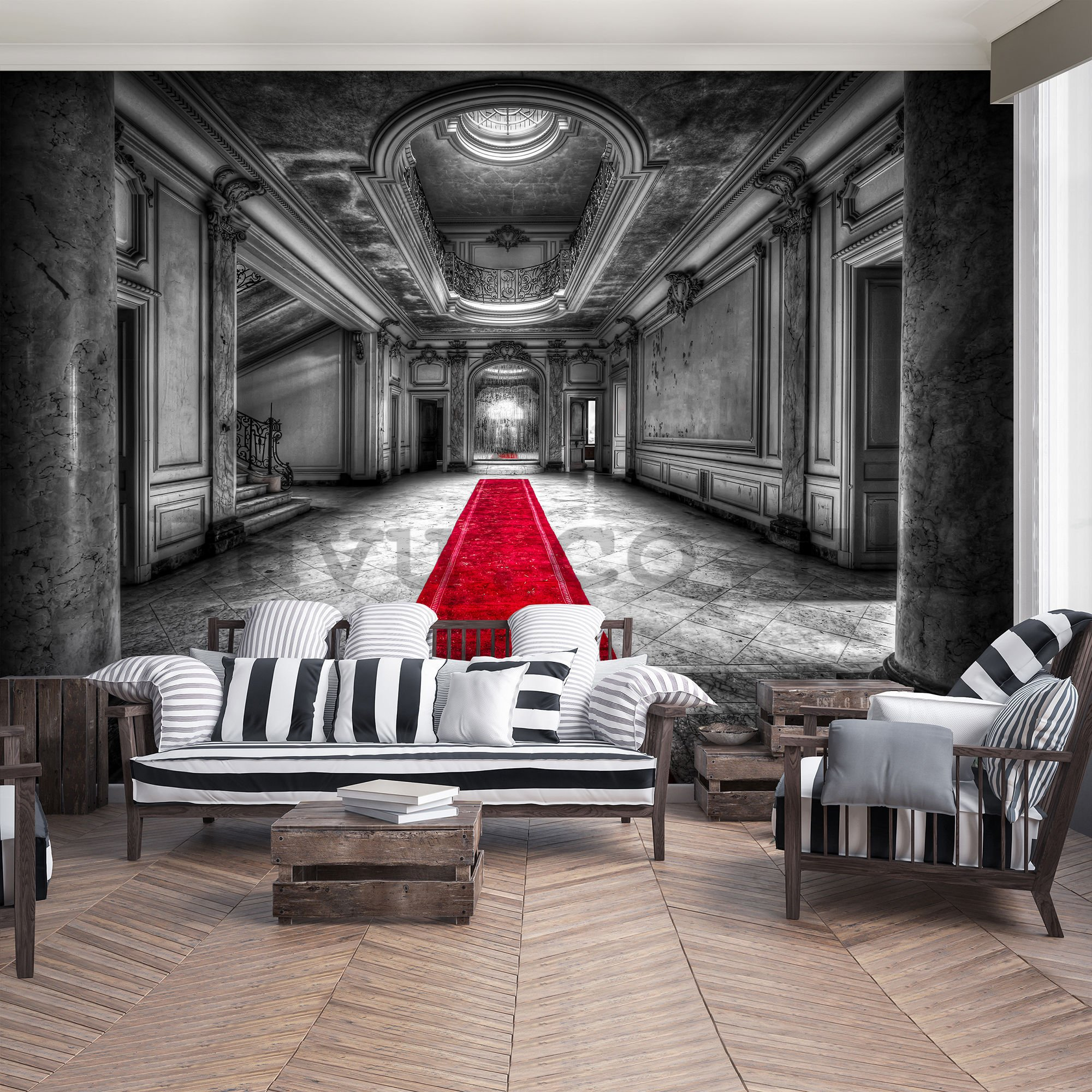 Wall mural: Hallway at the castle - 184x254 cm