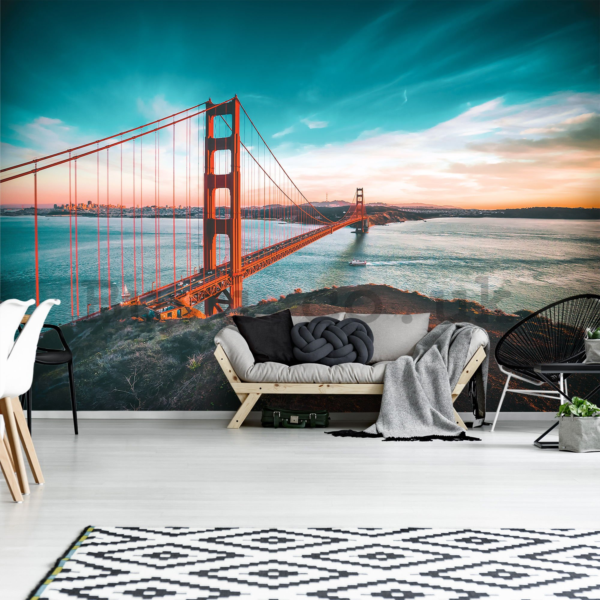 Wall mural: San Francisco Bridge - 104x152,5 cm