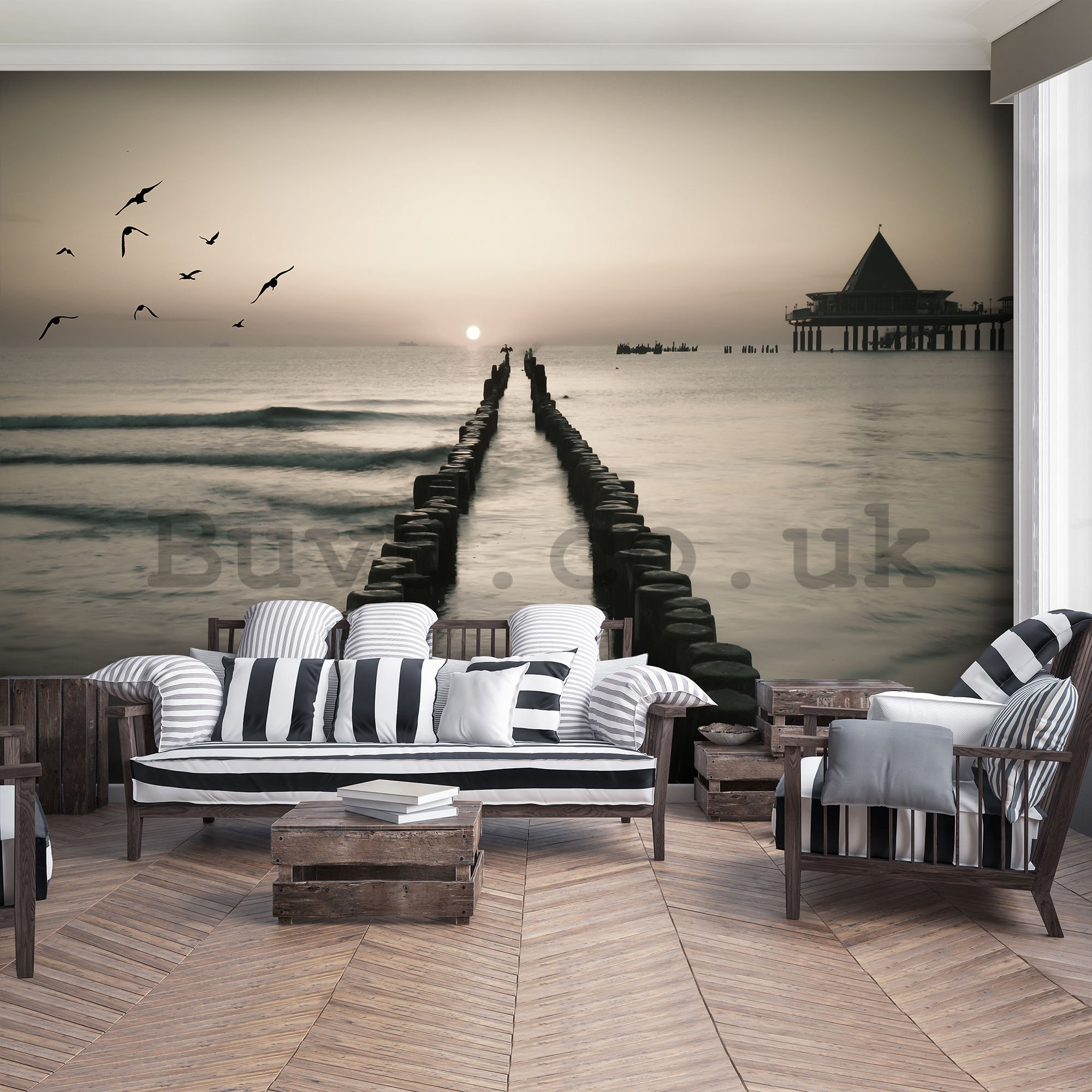 Wall mural: Journey through the sea - 254x368 cm