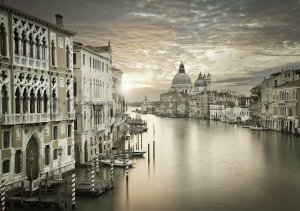 Wall mural vlies: Twilight in Venice - 416x254 cm