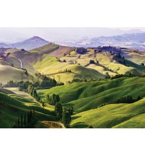 Wall mural vlies: Hilly landscape - 416x254 cm