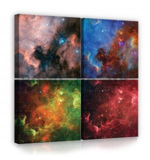Painting on canvas: Universe - set 4pcs 25x25cm