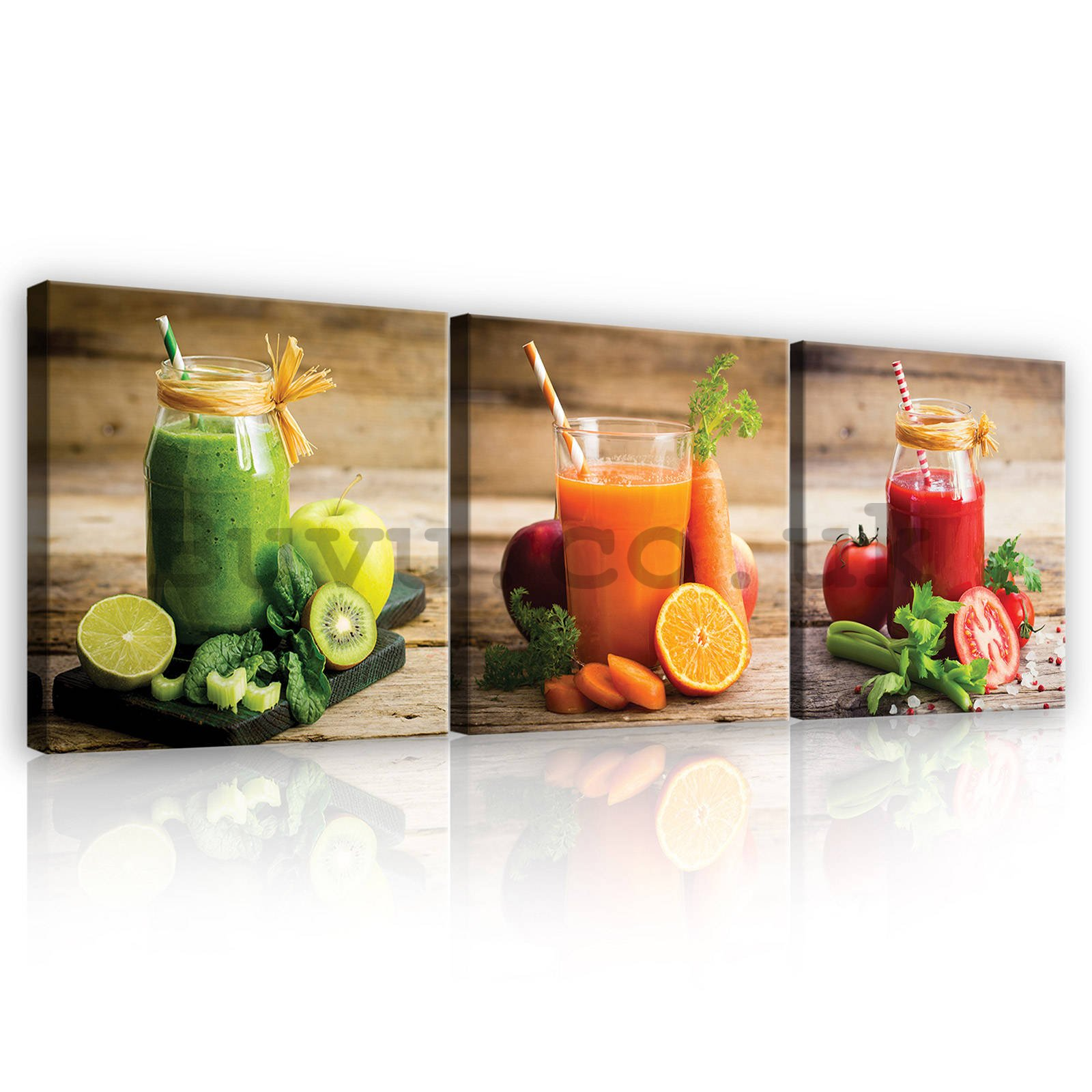 Painting on canvas: Smoothie - set 3pcs 25x25cm