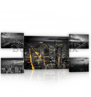 Painting on canvas: New York - set 1pc 70x50 cm and 4pc 32,4x22,8 cm