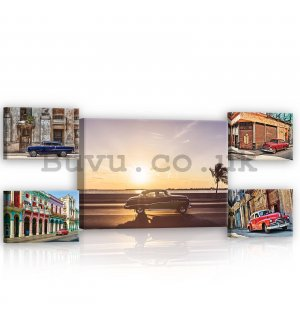 Painting on canvas: Havana - set 1pc 70x50 cm and 4pc 32,4x22,8 cm