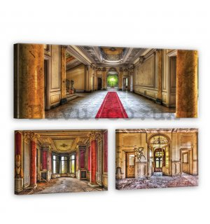 Painting on canvas: In the castle - set 1pc 80x30 cm and 2pc 37,5x24,8 cm