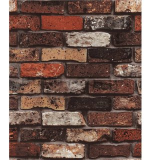 Vinyl wallpaper brick wall brown