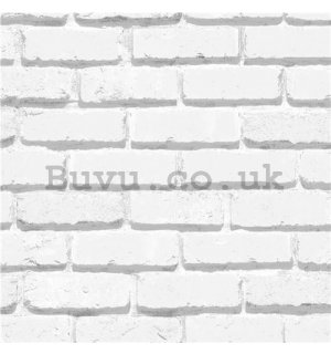 Vinyl wallpaper brick regular white wall