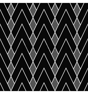 Vinyl wallpaper black-gray pattern