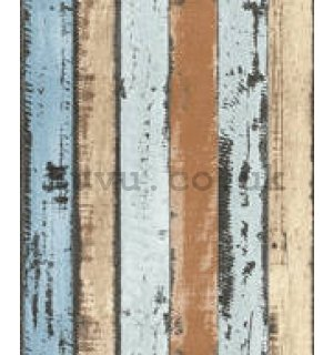 Vinyl wallpaper colorful wooden tiles