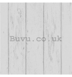 Vinyl wallpaper wood white-gray