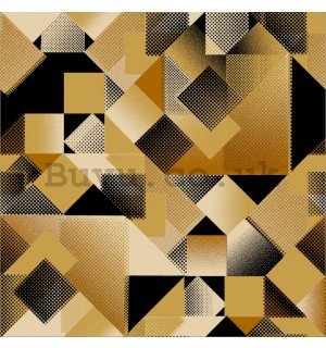 Vinyl wallpaper geometric shapes brown shades