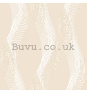 Vinyl wallpaper brown wavy lines