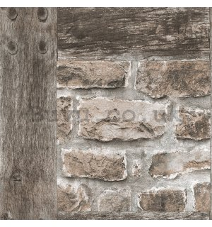 Vinyl wallpaper stone wall