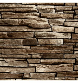 Vinyl wallpaper stone lining regular light brown