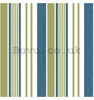 Vinyl wallpaper vertical stripes beige blue