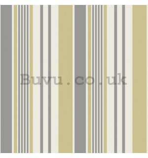 Vinyl wallpaper vertical stripes beige gray