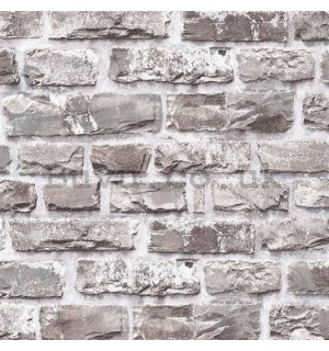 Vinyl wallpaper gray brick wall (1)