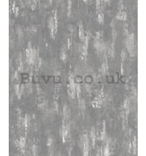 Vinyl wallpaper dark gray plaster