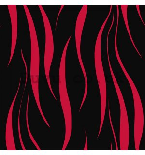 Vinyl wallpaper ripple black-red pattern