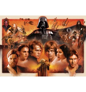 Wall mural: Star Wars (red legacy) - 254x184cm