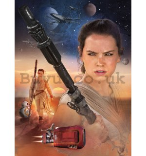 Wall mural: Star Wars, Rey - 184x254cm