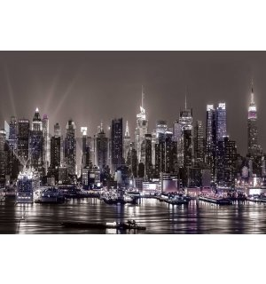 Wall mural: New York at night - 368x254cm