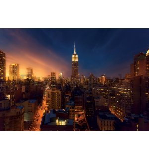 Wall mural: New York at night (3) - 368x254cm