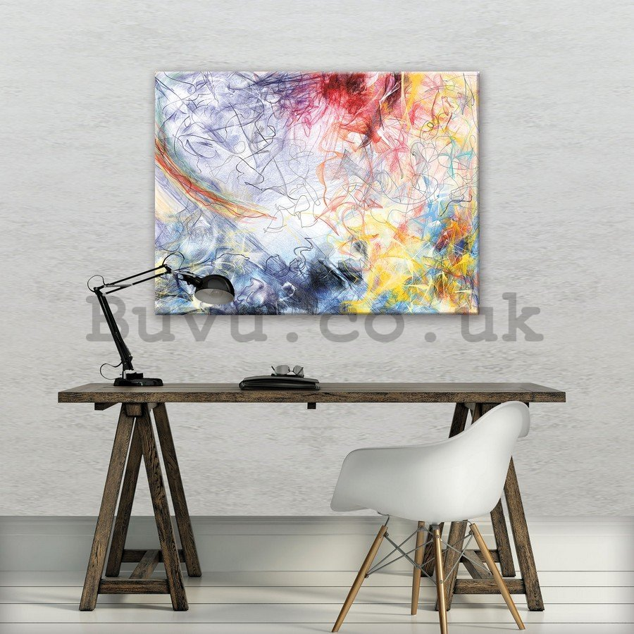 Painting on canvas: Modern Abstraction (3) - 75x100 cm