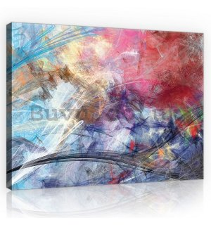Painting on canvas: Modern abstraction (4) - 75x100 cm