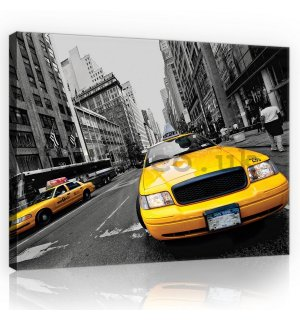 Painting on canvas: Manhattan Taxi - 75x100 cm