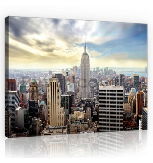 Painting on canvas: Manhattan view - 75x100 cm