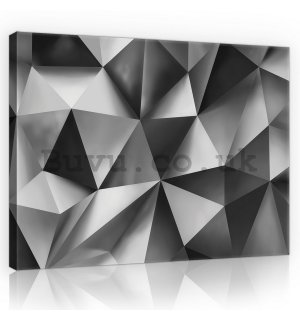 Painting on canvas: Black & White Abstraction (4) - 75x100 cm