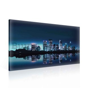 Painting on canvas: City lights (1) - 75x100 cm