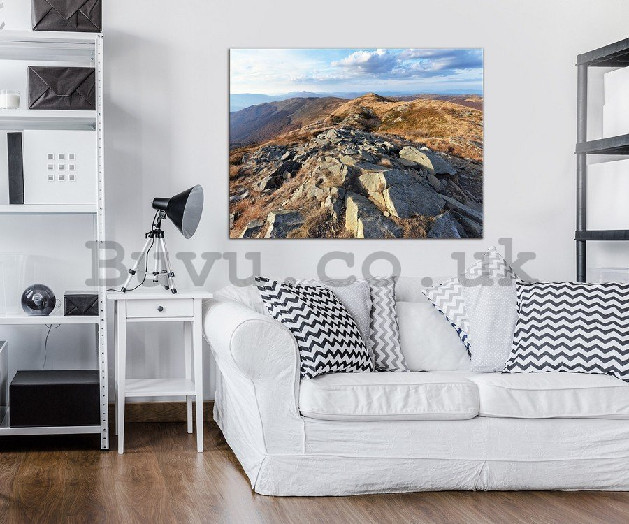 Painting on canvas: Mountain view - 75x100 cm