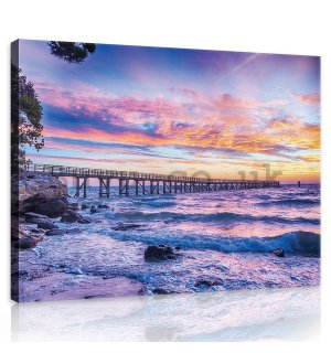 Painting on canvas: Sunset by the Sea - 75x100 cm