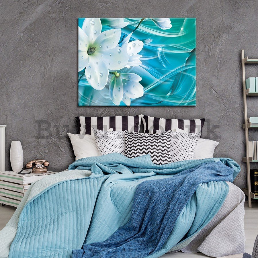 Painting on canvas: Floral Abstraction (2) - 75x100 cm
