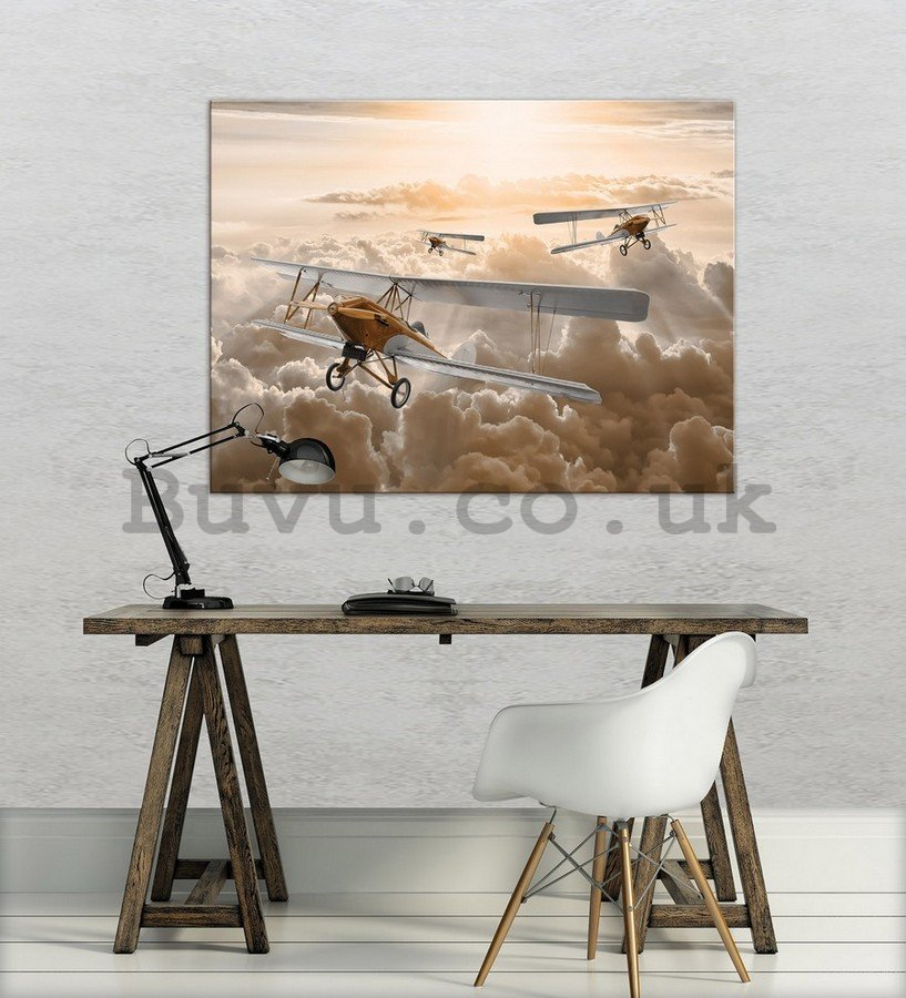 Painting on canvas: Biplane - 75x100 cm